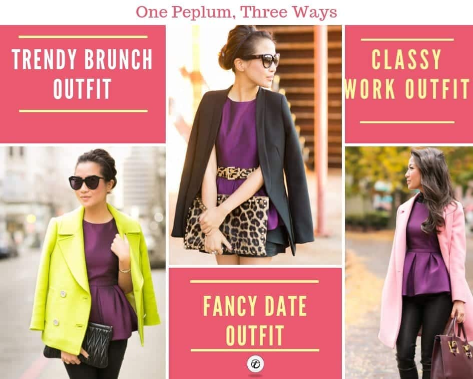 peplum top outfits for winters