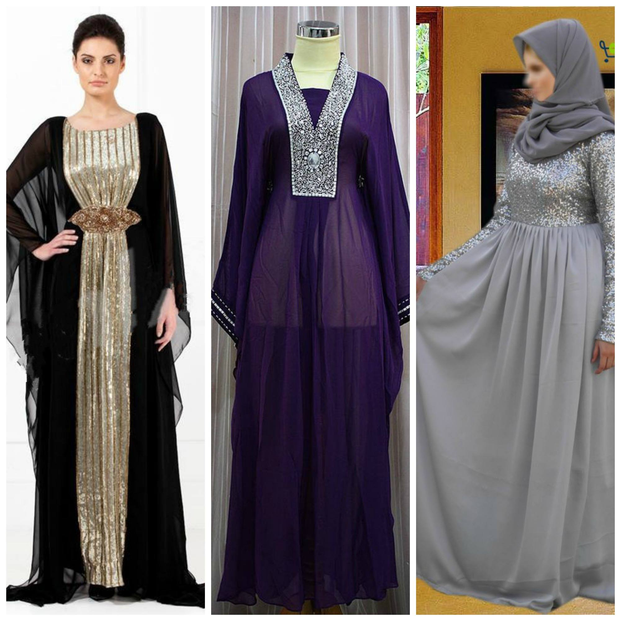 fancy abayas with sequin