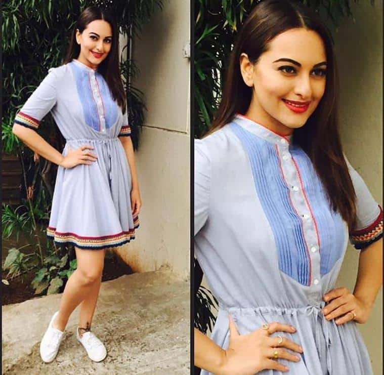 1914718ccb First off we have Sonakshi Sinha in a Tommy Hilfiger dress which gave off  some Bohemian vibes. It s a cool and casual look for Summers.