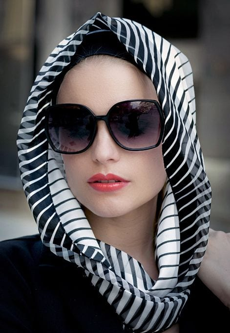 sunglasses style with hijab
