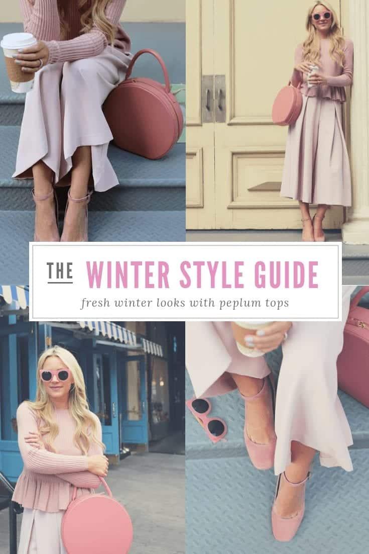 how to wear peplum top in winters