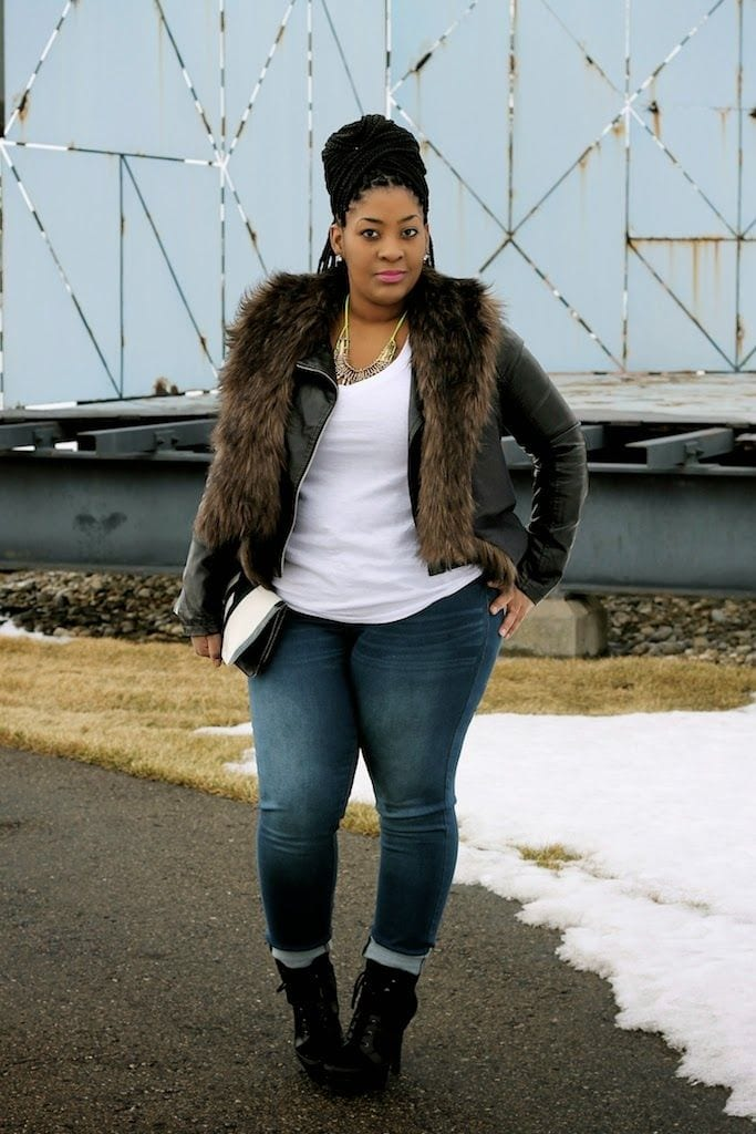 Black curvy women street fashion