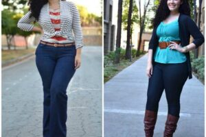 Casual Outfits for Plus Size Women-14 Funky Curvy Women Style
