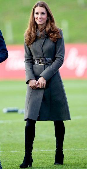 Celebrities long coat style