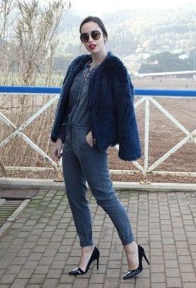 Faux fur long coats style