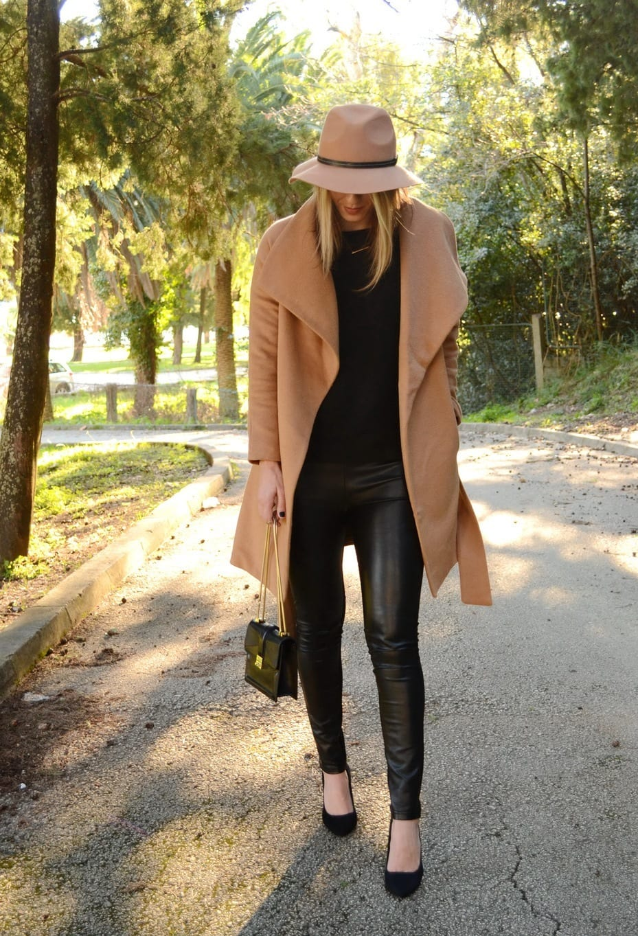 How to style camel long coats