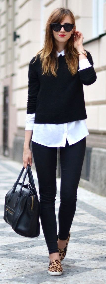 Street style with sweaters