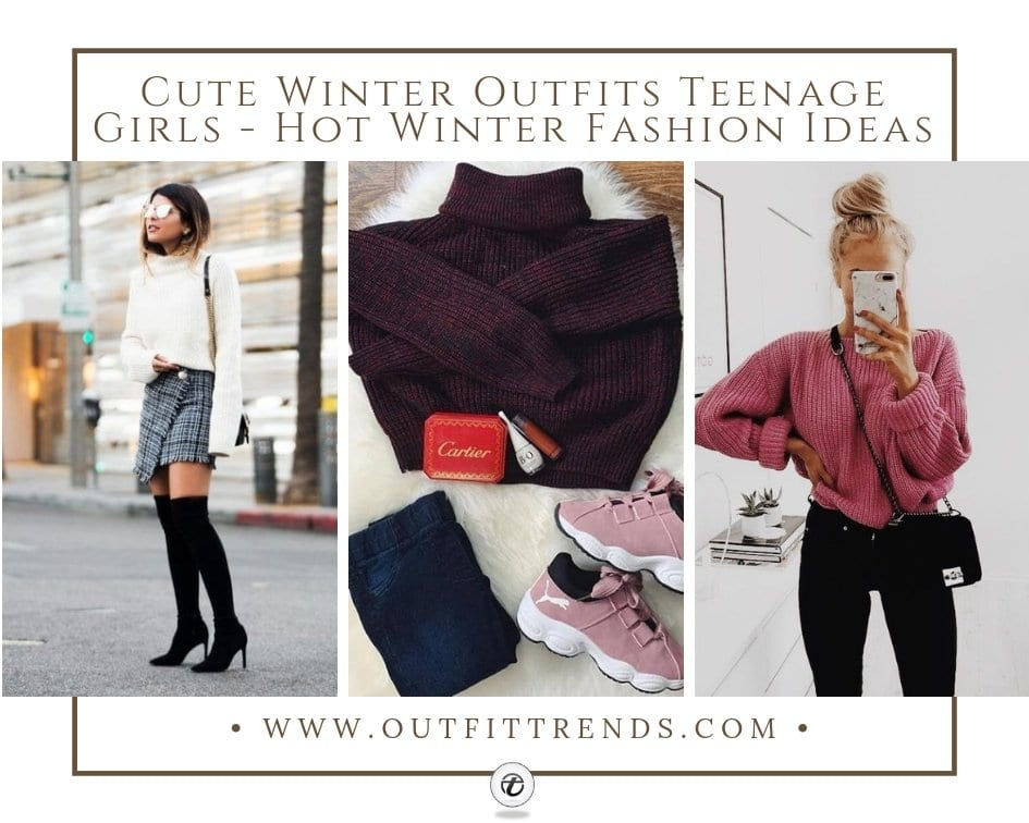 a563cedf6421 Cute Winter Outfits Teenage Girls-17 Hot Winter Fashion Ideas