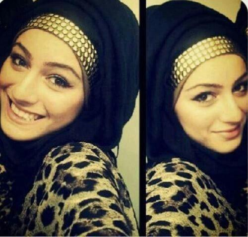 gold headbands hijab