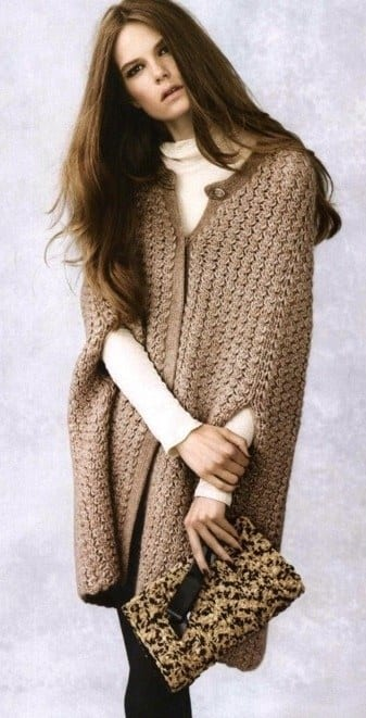 crocheted long sweater style