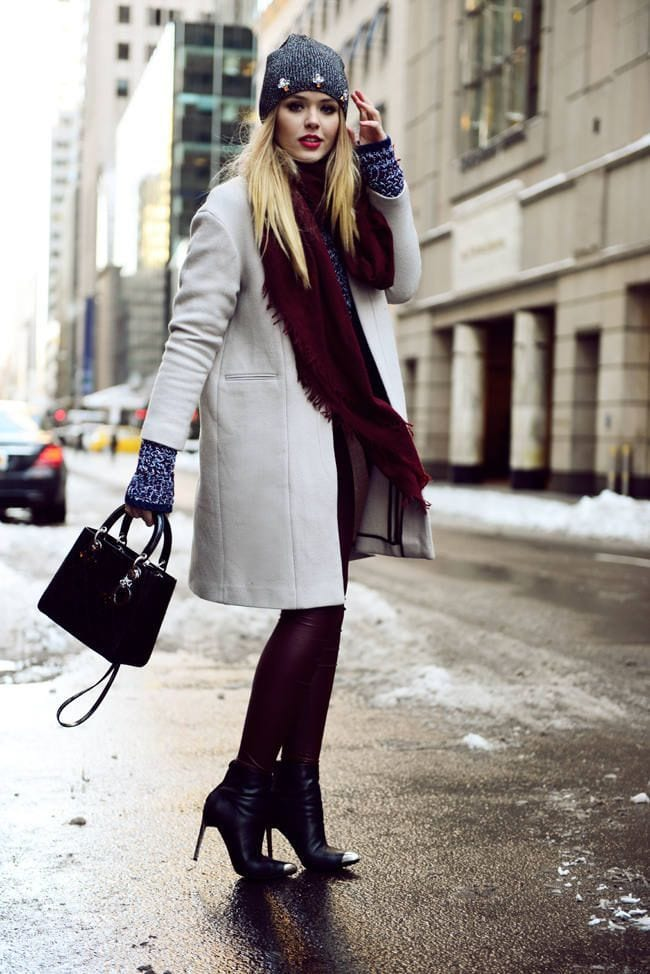 cute winter kristina bazan outfits