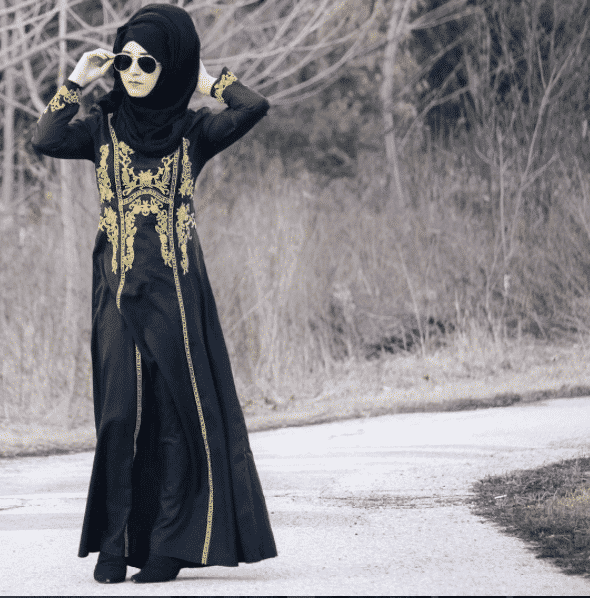 35b6dad4d6 You can go for embroidered shirts or abayas. Have a look at these 18 Fancy  Abaya Designs; Ideas How to Wear Abaya Fashionably.