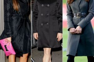 how celebrities wear coats