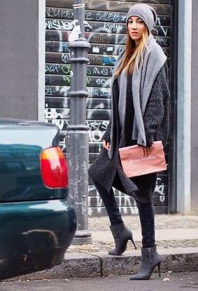 how to wear long coat