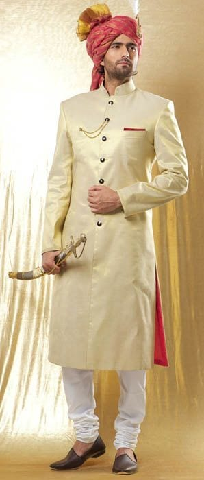 khusa with sherwani