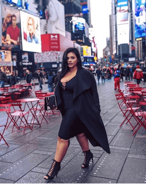0b8a9f7e9a54b ... hottest on plus size women. You can style it with a bold colored jacket  or just with sexy black gladiator heels Check out these 25 Celebrities All  Black ...