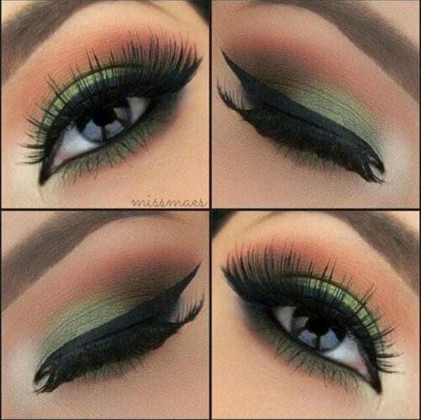 simple makeup tutorials for green eyes