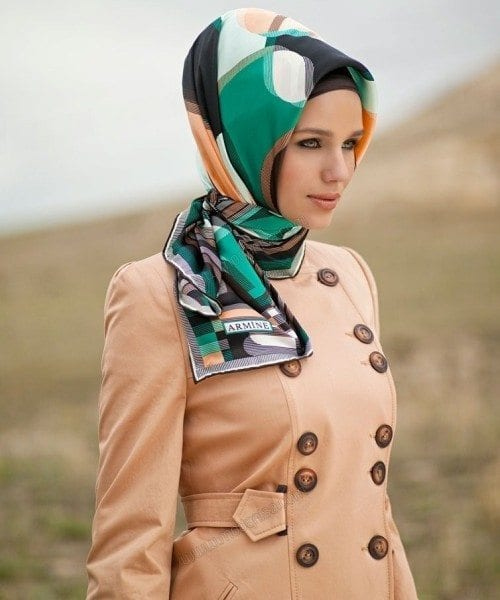 turkish hijab for round face