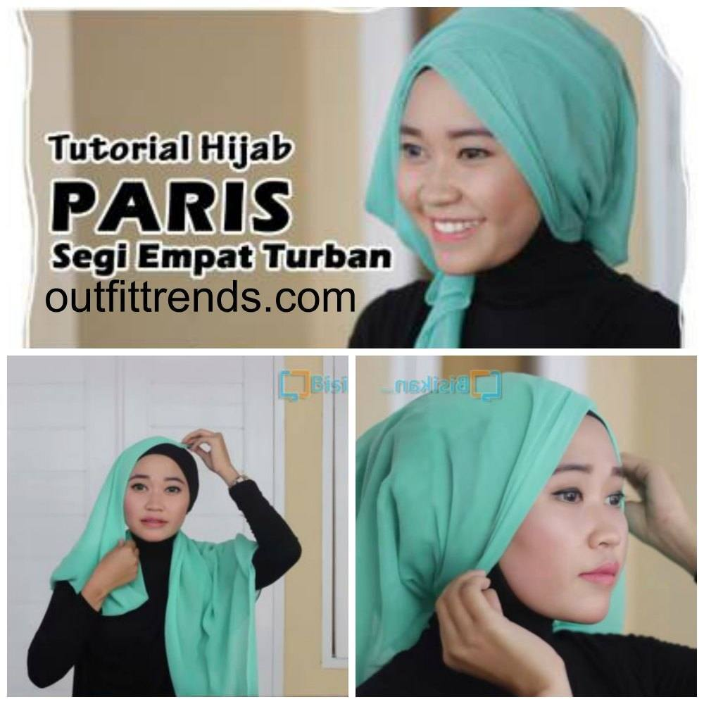 tutorial hijab paris turban