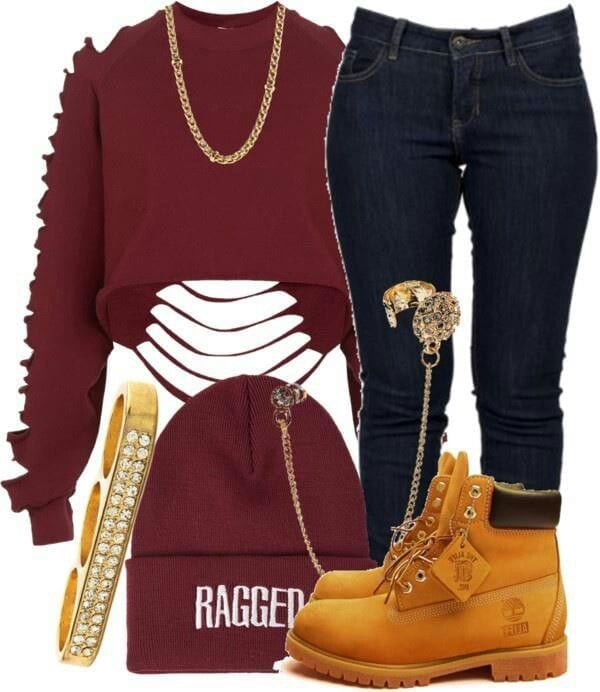 6bdcb0e7e4 22 Cute Outfits to Wear with Timberland Boots For Girls