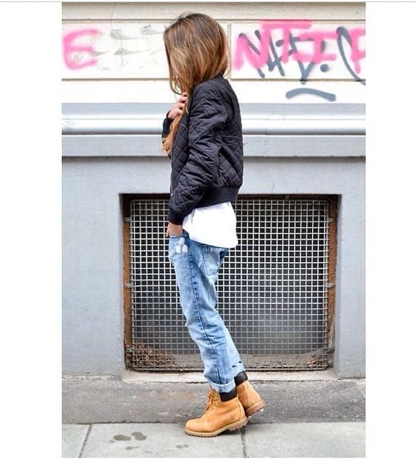 winter outfits with timberland for girls (23)