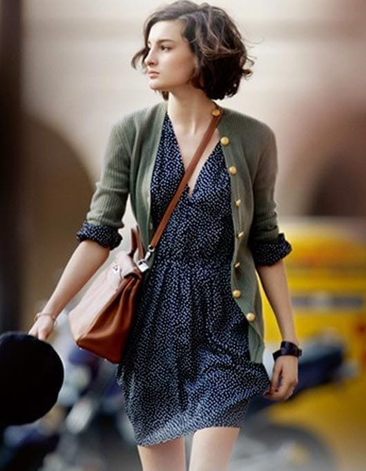 wonderful bohemian outfit for short hair