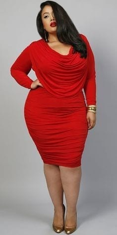 Plus size women Valentines party dresses (12)