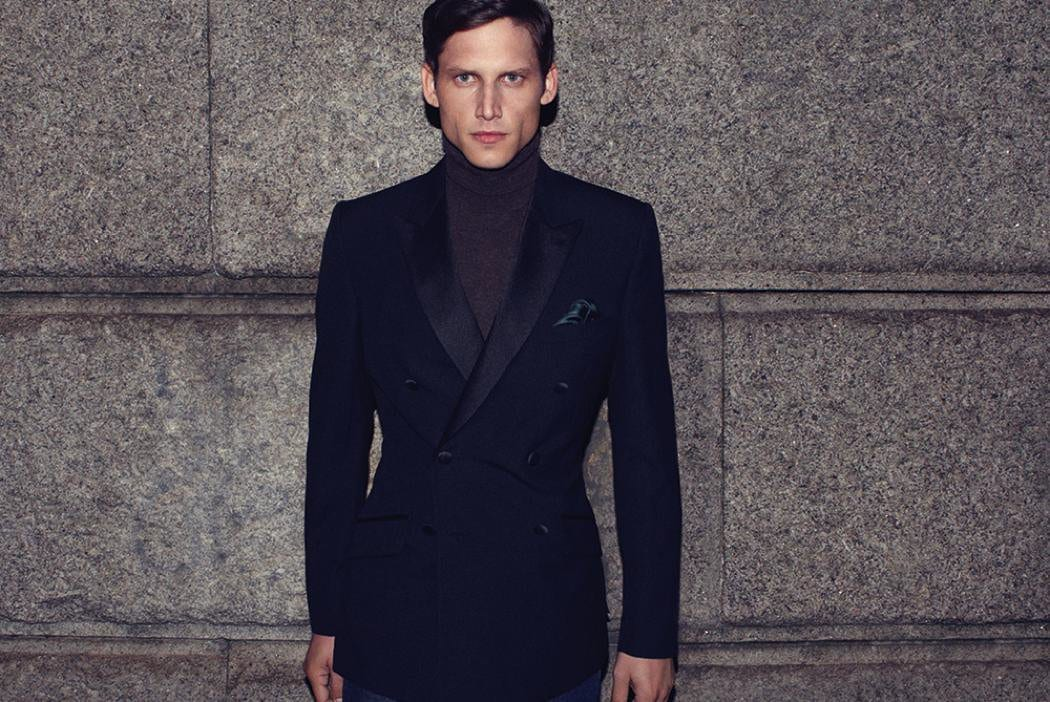 Classic Black Tuxedo Winter Groom Attire