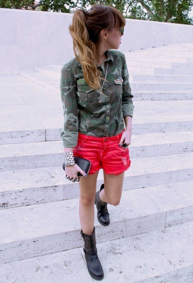 combat boots with shorts