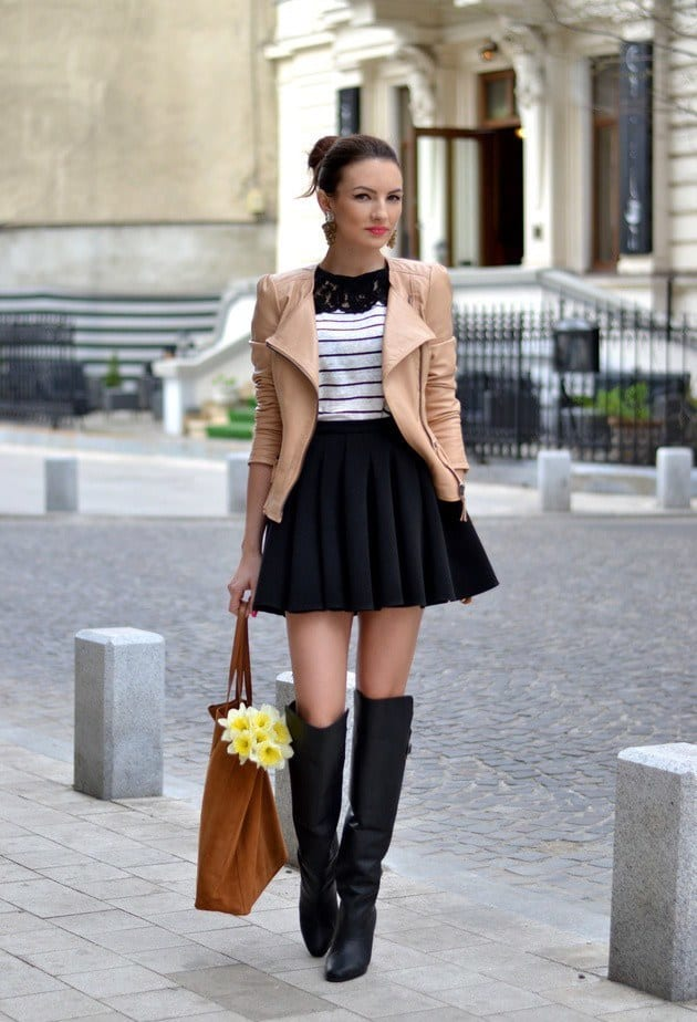 Black Skirt in the Winter