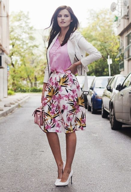 outfits to wear with skirts for fall (4)