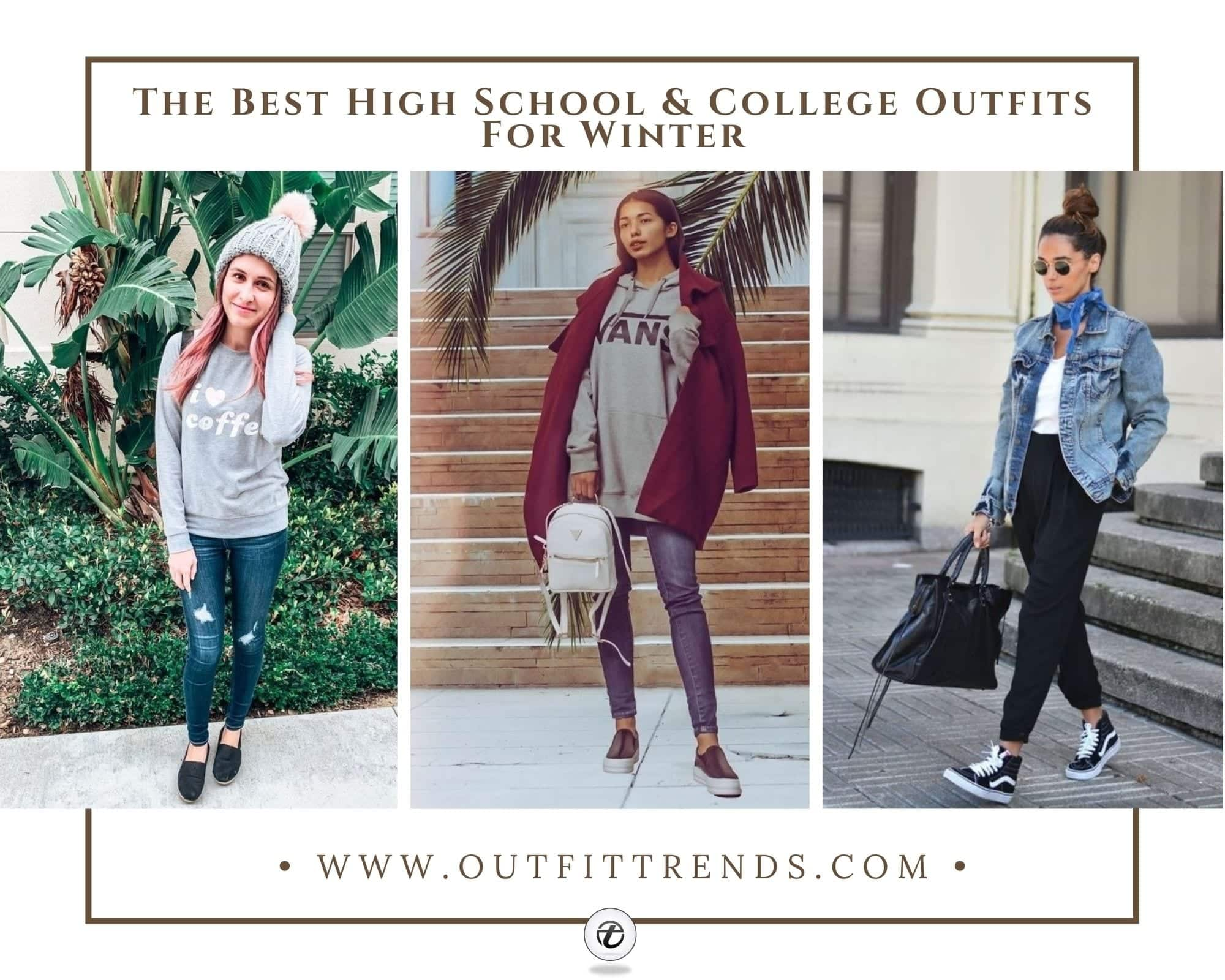 25 Cutest Winter Outfits For College & High School Girls