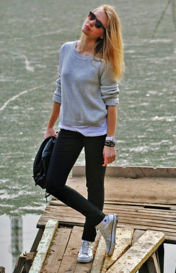 Teen Girls Outfits to wear with Chuck Taylors (9)