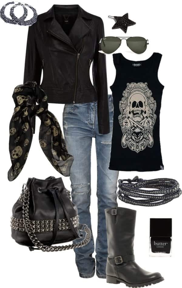 women biker fashion ideas (7)
