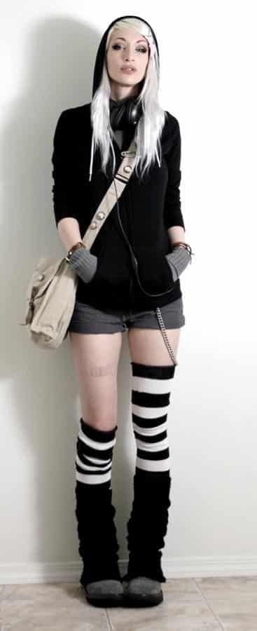Cute goth style outfit ideas (10)