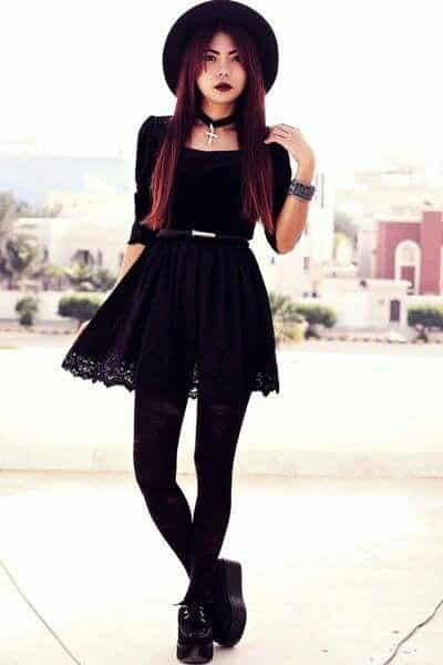 How To Dress Goth ? 12 Cute Gothic Styles Outfits Ideas