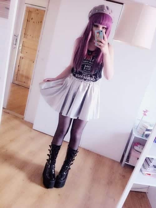 Cute Goth Style Outfit Ideas