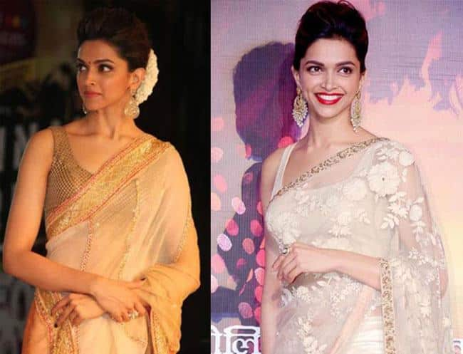 Deepika saree hairstyle