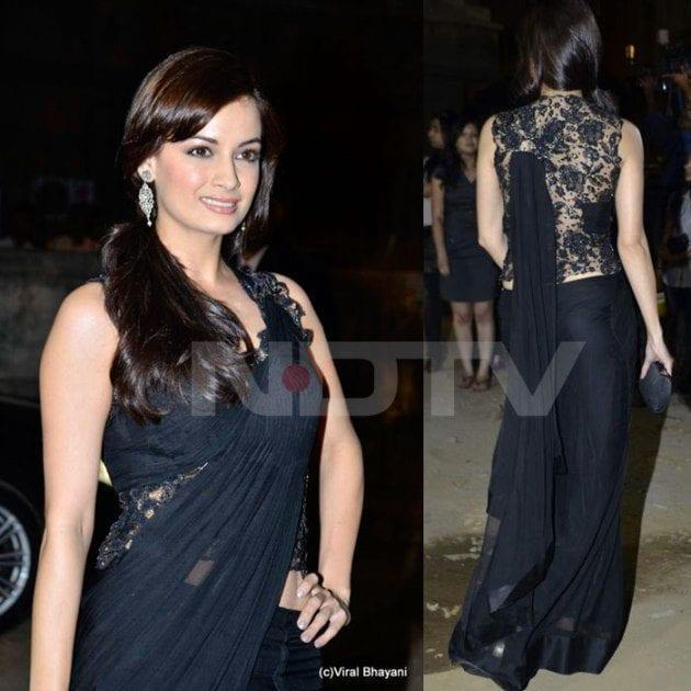 Indian actress hairstyle with saree