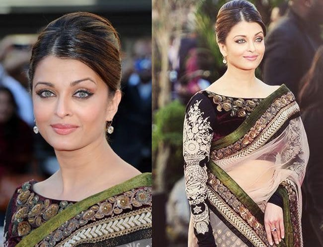 cute hairstyle for saree (2)