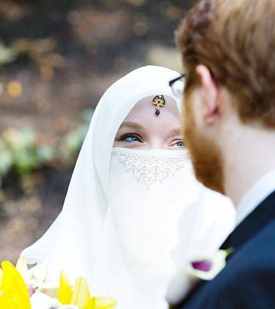 cute muslim couple marriage pics
