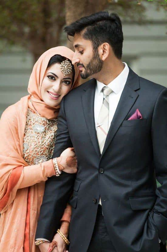cute muslim couple marriage photos