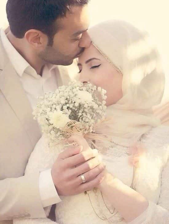 muslim romantic couple marriage pictures