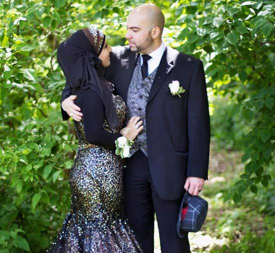 black islamic wedding dress