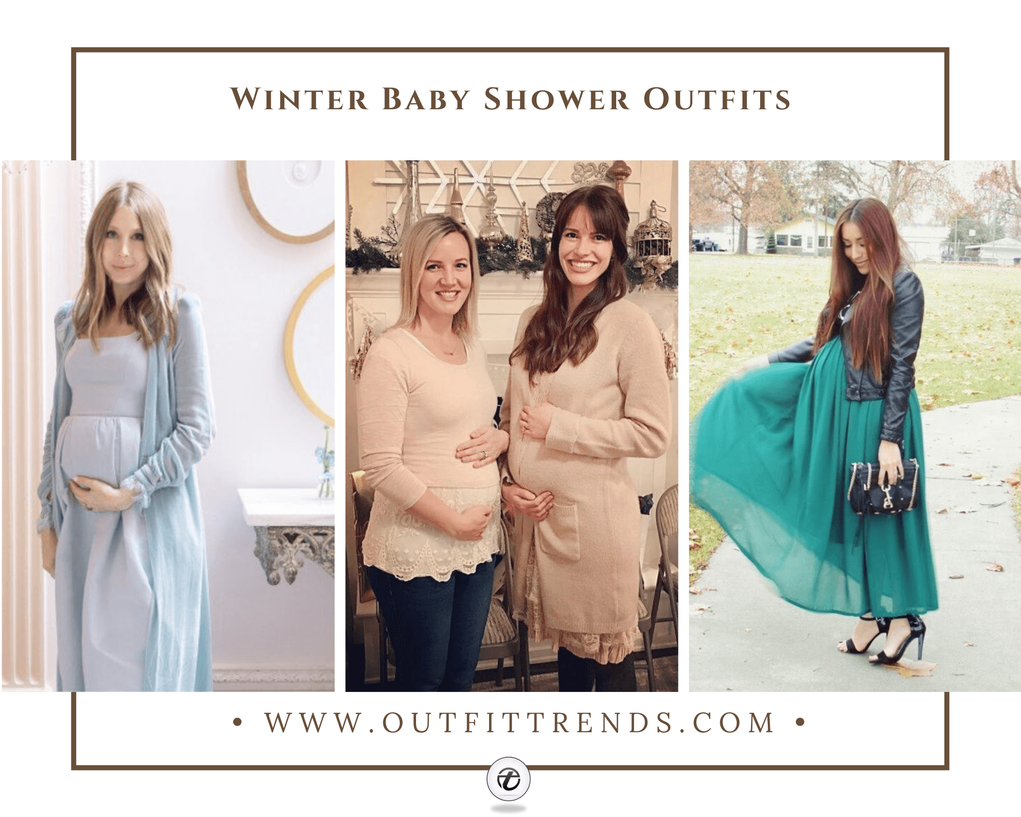 20 Comfortable Winter Baby Shower Outfits Combinations