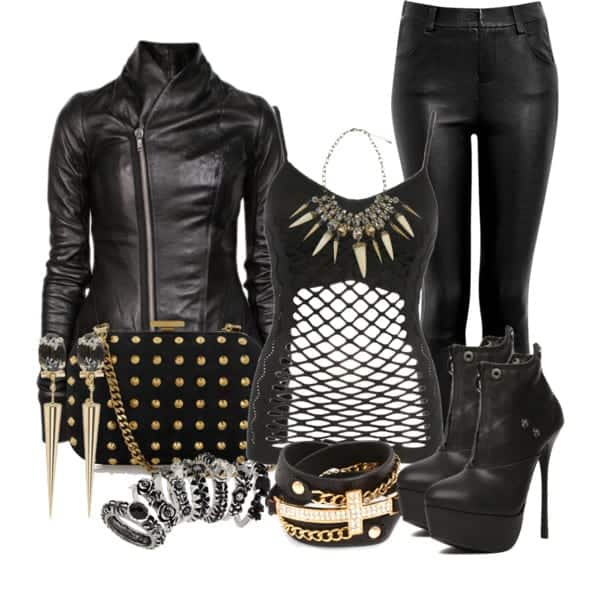 53b3ffe81903 10 Chic Girls Biker Outfits Combinations this Season