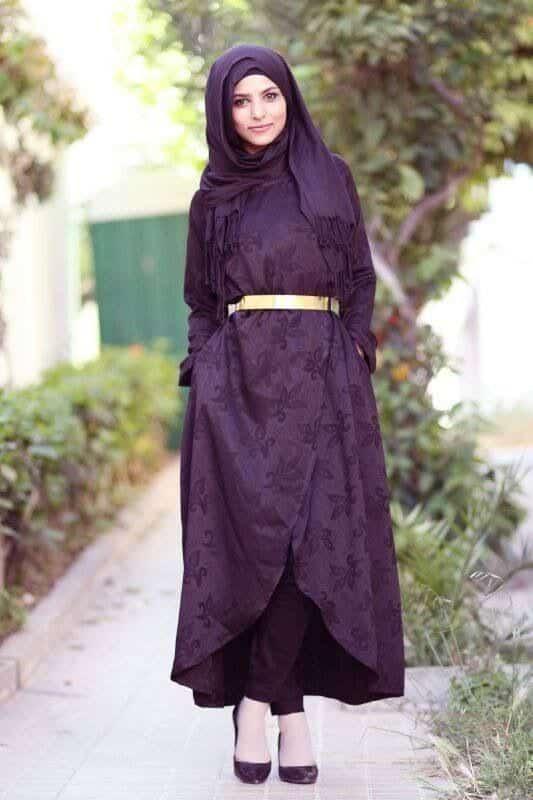8b55b029317e Hijab Style With Abaya-12 Chic Ways To Wear Abaya With Hijab