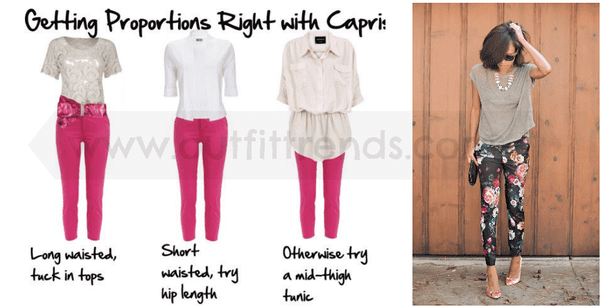 how to wear capri pants as short height girl (4)