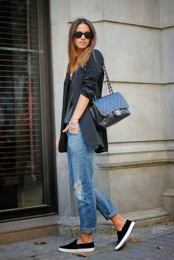 Shoes To Wear With Boyfriend Jeans In The Winter