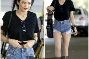 kylie jenner studded shorts
